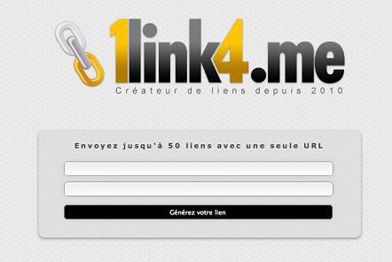 Envoyez jusqu'à 50 liens avec une seule URL avec 1link4.me
