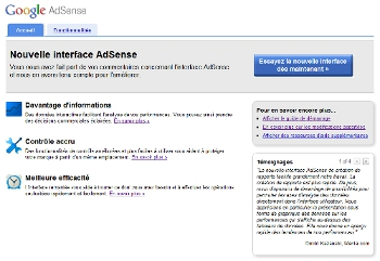 Google Adsense, nouvelle version