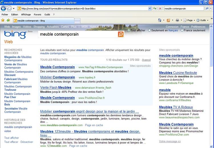 Le navigateur Internet Explorer, de Microsoft