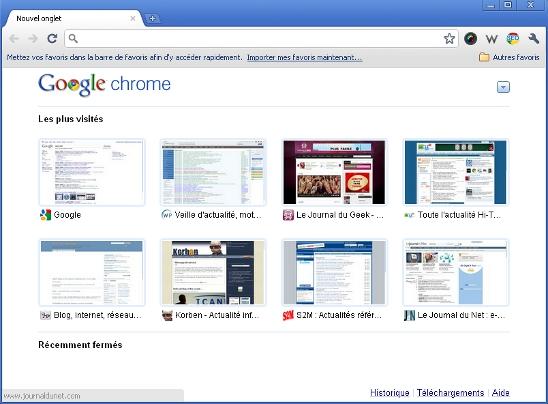 Le navigateur Internet : Google Chrome