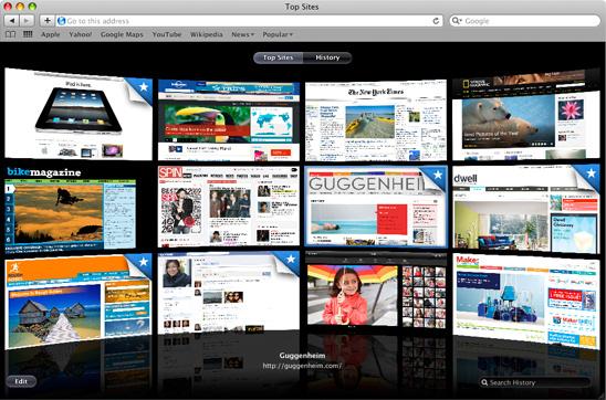 Le navigateur Internet : Safari