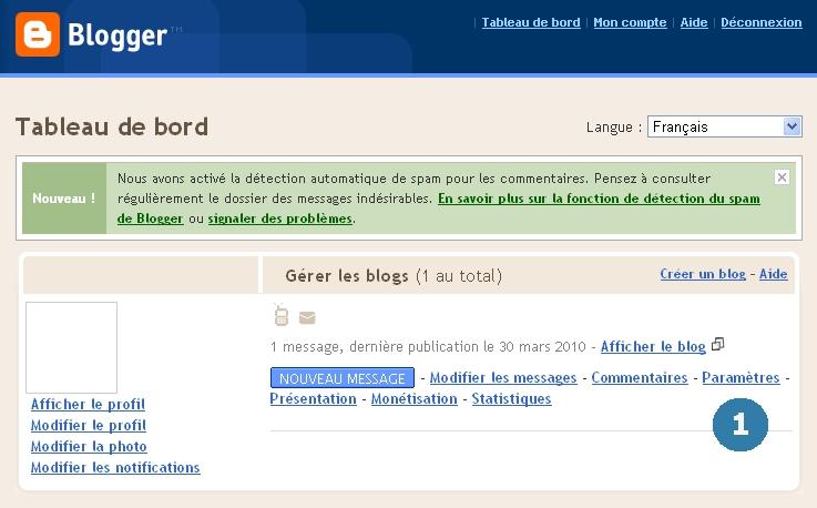 Activation du nouvel éditeur de Blogger