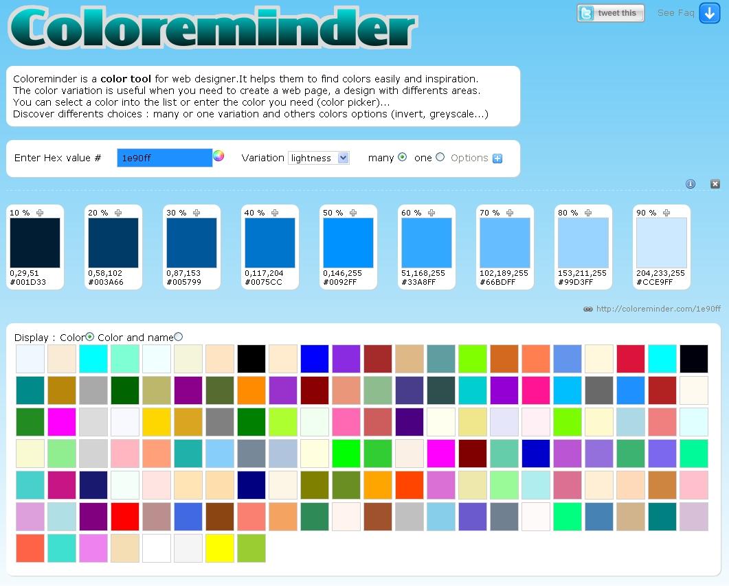 Coloreminder aide dans le choix des couleurs d'un site Web