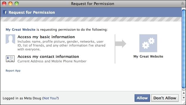 Facebook : demande d'accès aux données personnelles