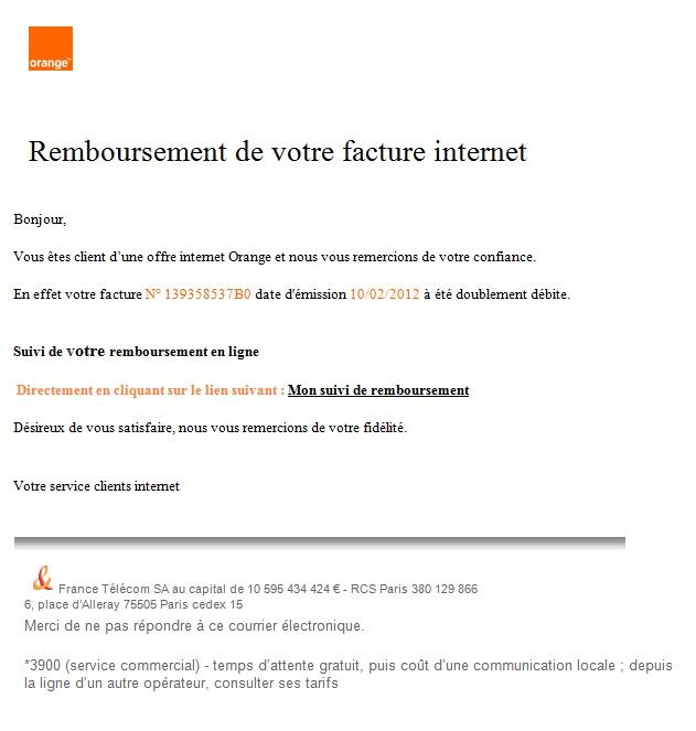 escroquerie orange internet