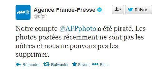 twitter AFP piraté