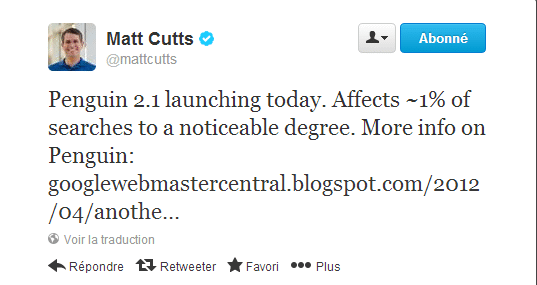 Penguin 2.1 Matt Cutts