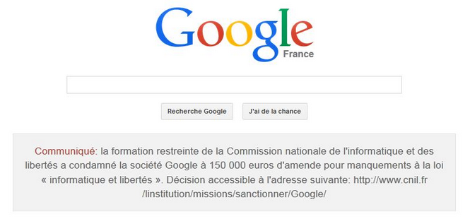 sanction google cnil