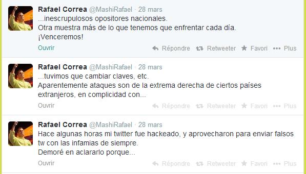rafael correa twitter