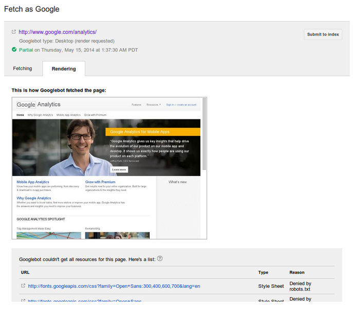 google affichage