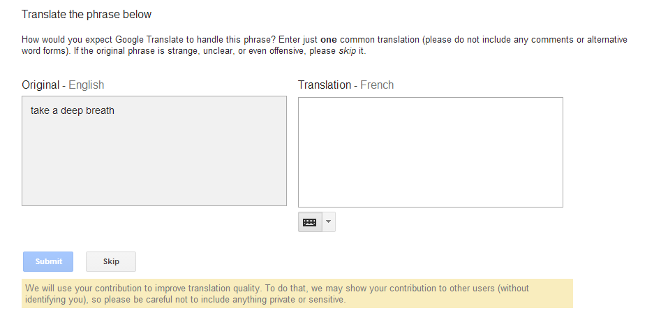 google translate commuity