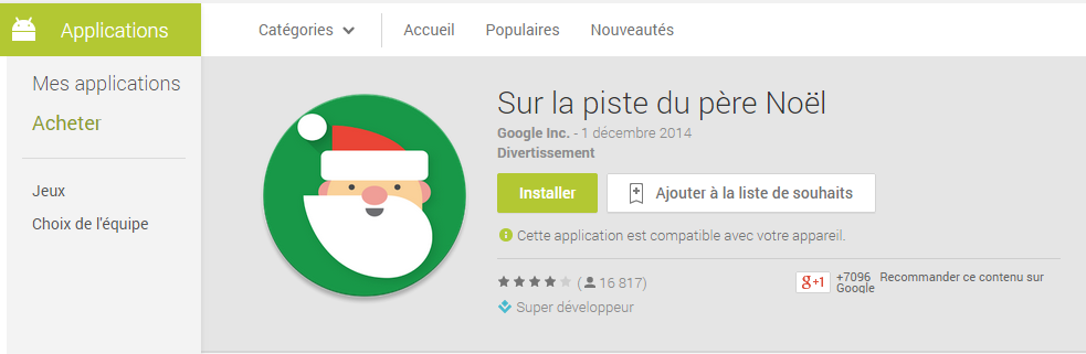 google santa tracker appli