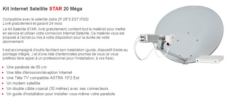 matériel internet satellite