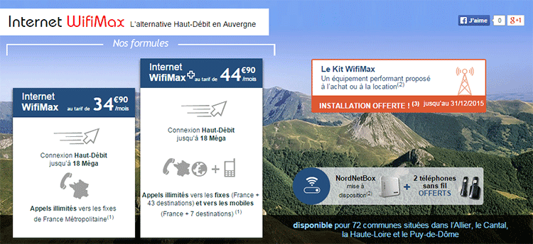 internet wifimax nordnet