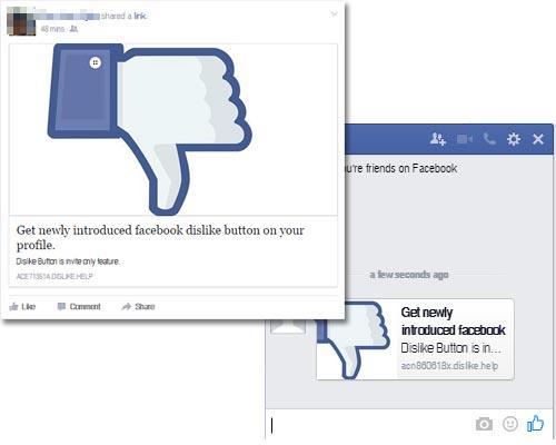 facebook bouton dislike