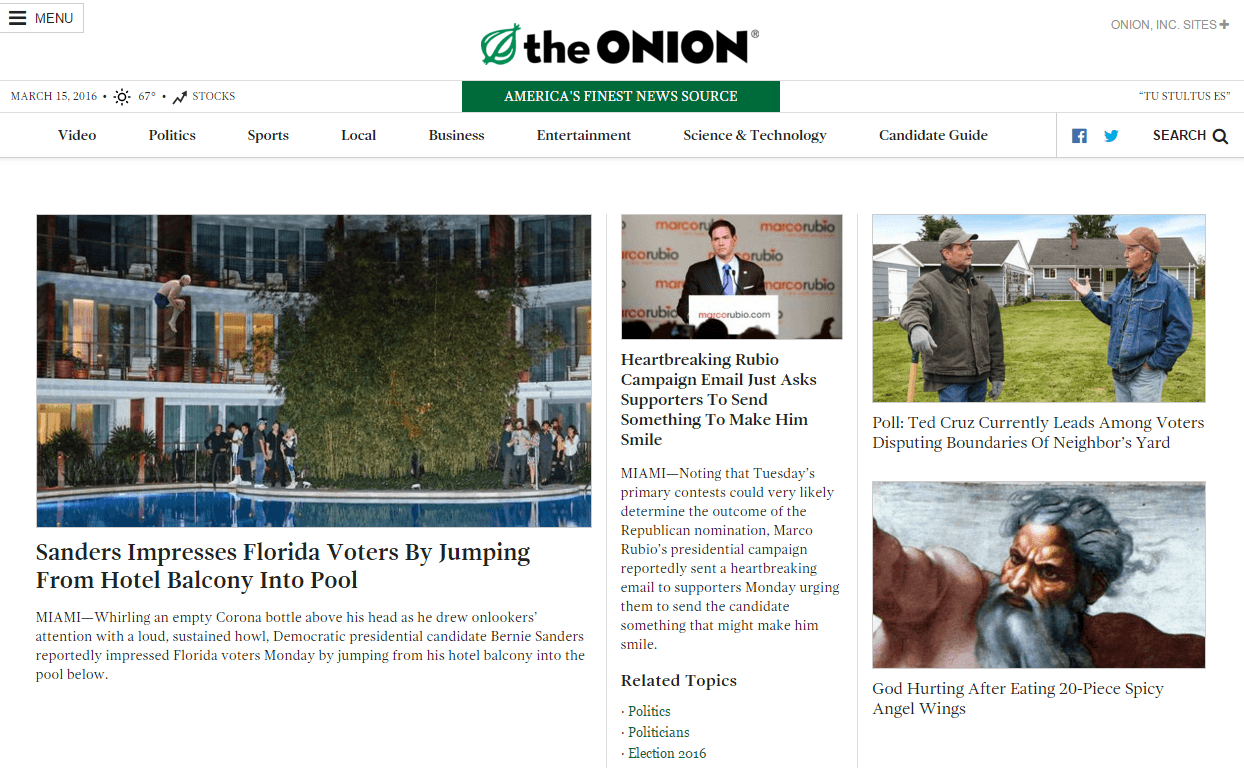 the onion parodique