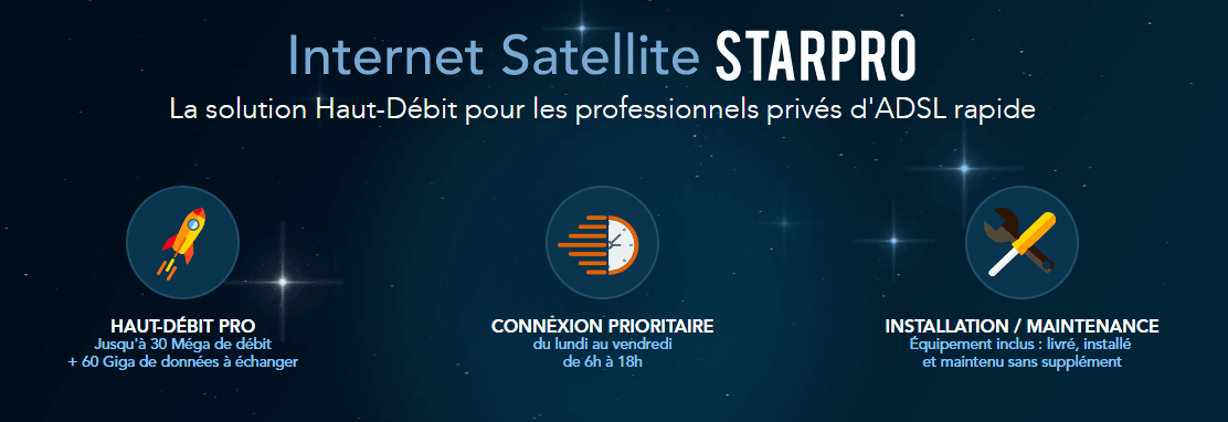 internet satellite starpro