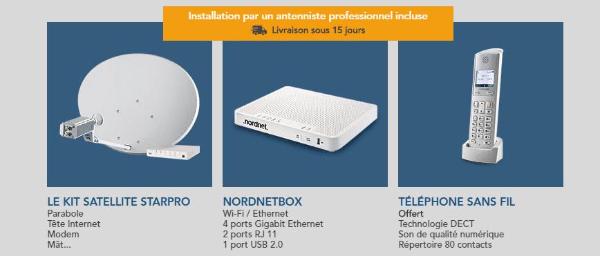 starpro équipement internet satellite starpro