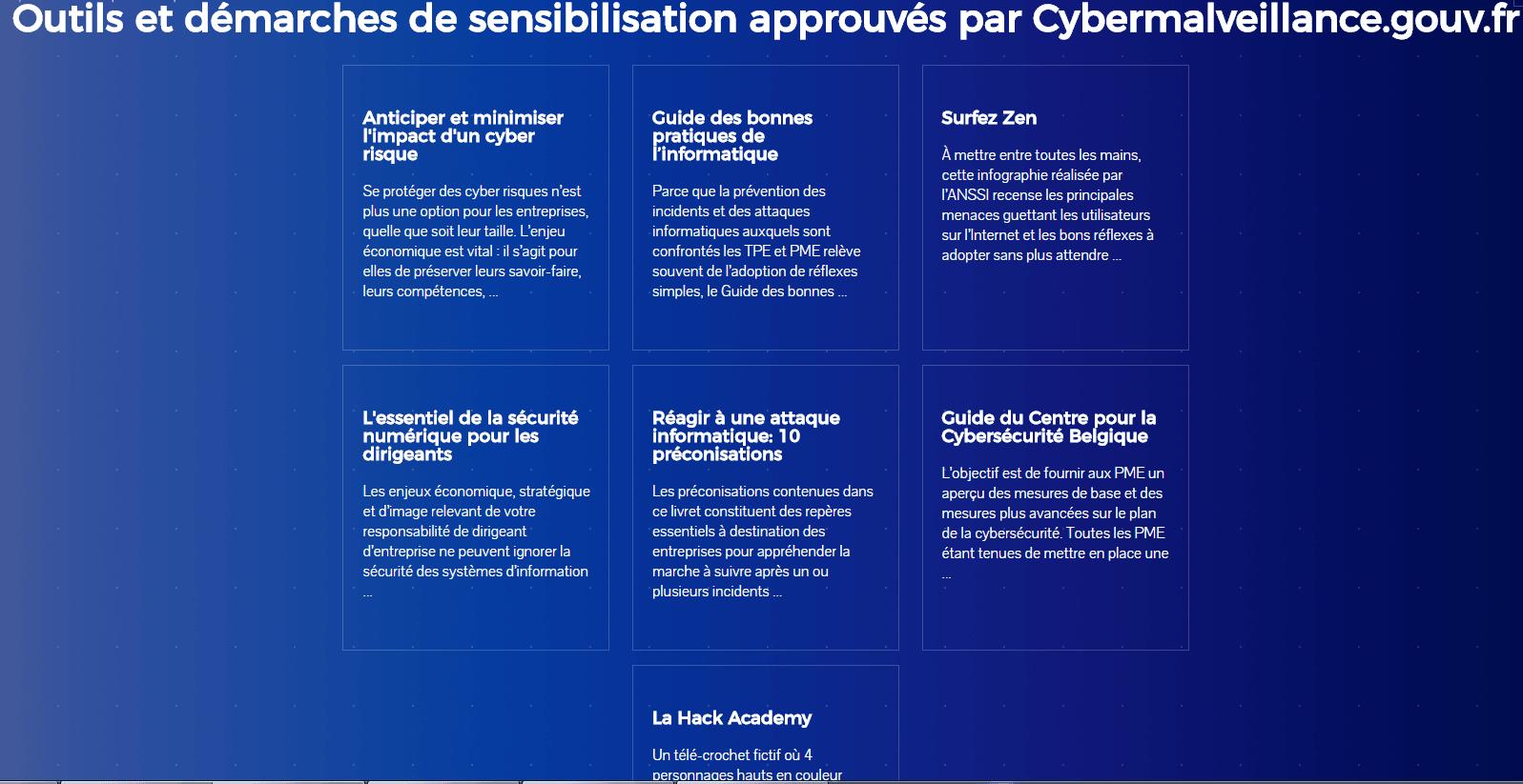 plateforme gouvernementale cybermalveillance