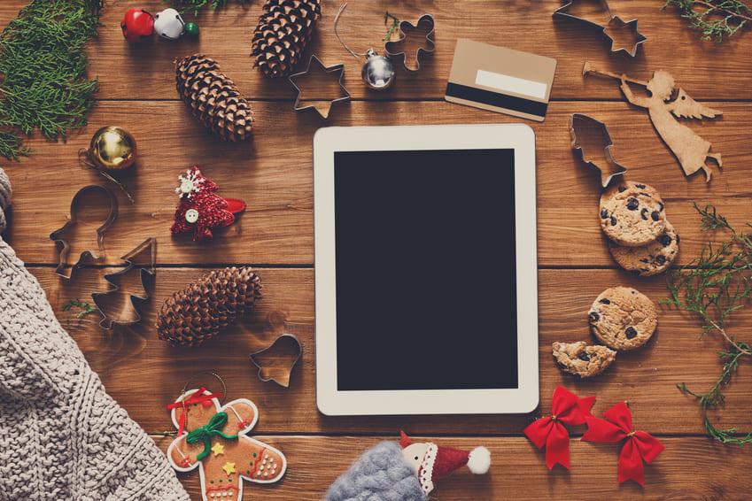 smartphone e-commerce Noël