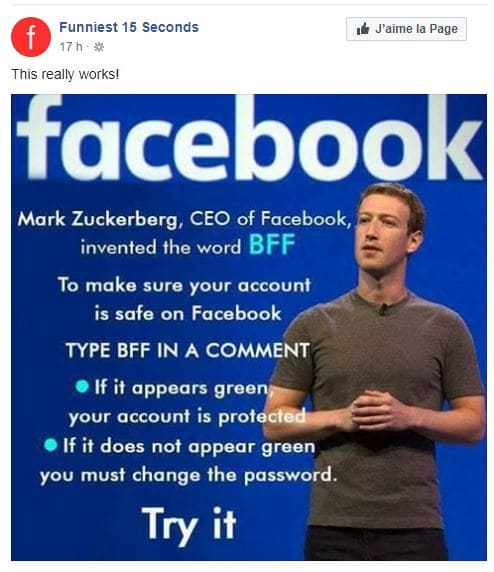 BFF facebook hoax