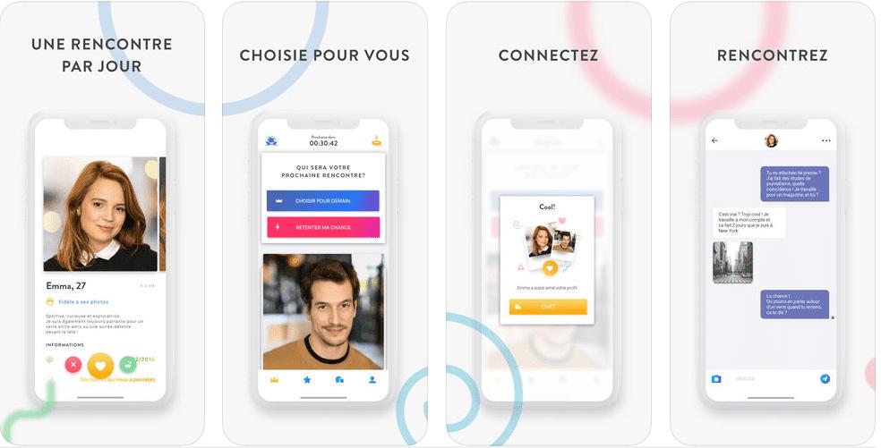 Application de rencontres en ligne pour iOS