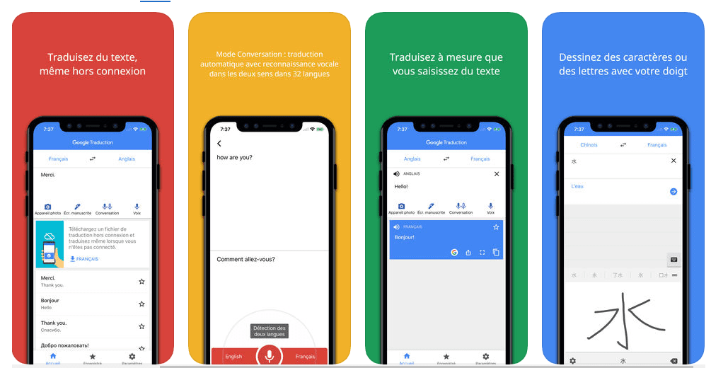 google traduction application voyage