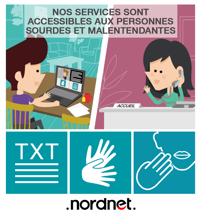 nordnet acceo sourds malentendants site accessibilité handicap