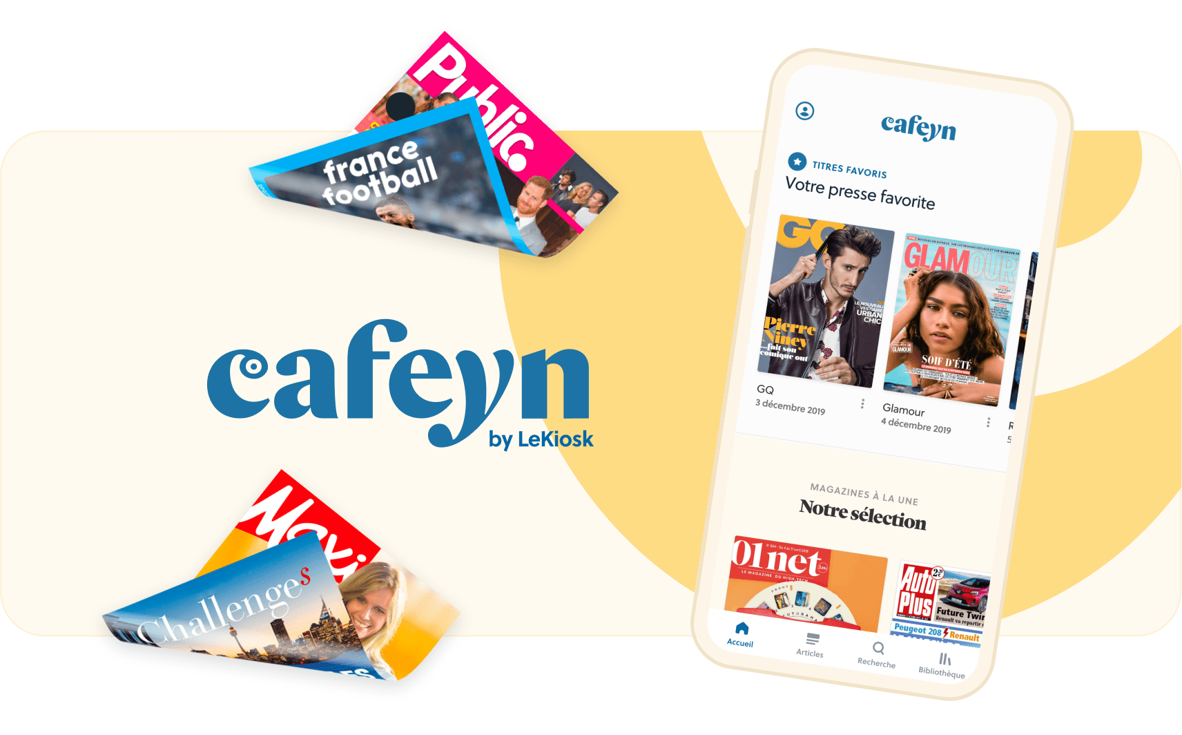 service presse en ligne gratuit cafeyn application presse journaux magazines abonnement